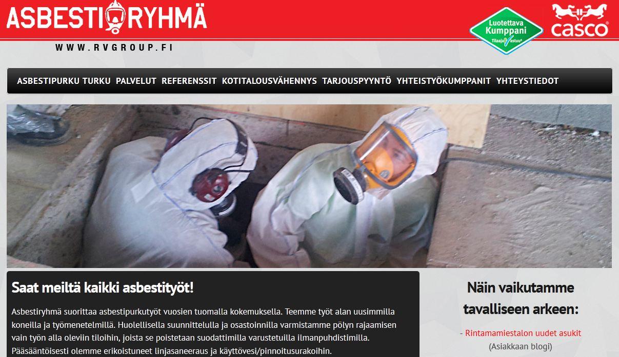 Asbestipurku hinta turku